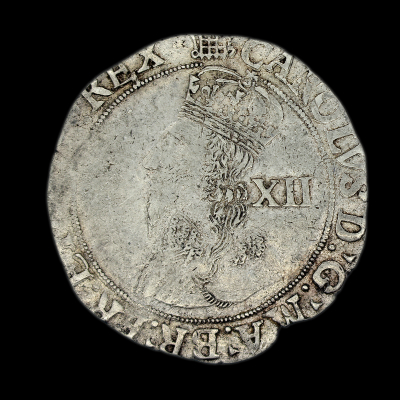 Charles Ist Shilling Group D, fourth Bust, type 3.1,