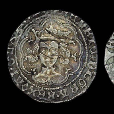 Henry VI Leaf Mascle Groat 1432-6 Leaf below bust