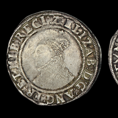 Elizabeth Ist Shilling Sixth Issue 1582-1584