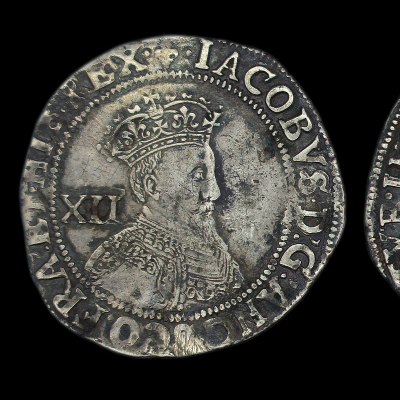 James Ist Shilling, First Coinage, Second Bust