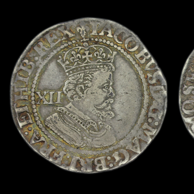 James Ist Shilling Third Coinage Sixth Bust