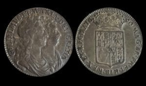 William and Mary (1688-94), silver Halfcrown, 1690, <strong><p id=