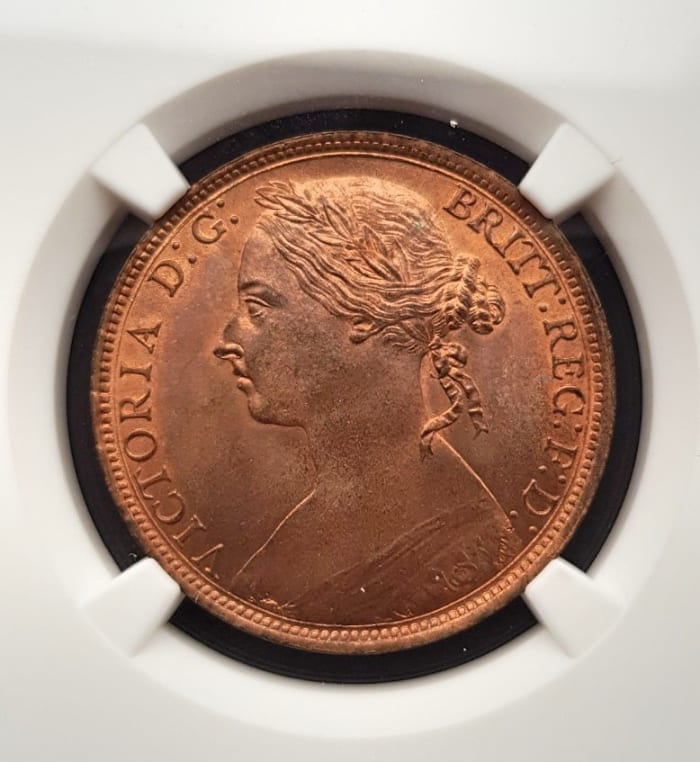 1893 Bun Penny - MS 65 RB Obverse
