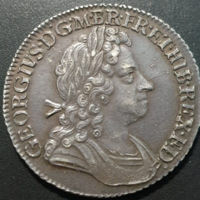 George I (1714-27), Shilling, 1723 South Sea Company issue, first laureate and draped bust right