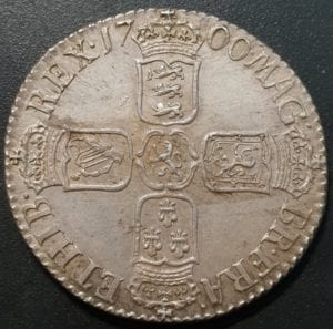 William III (1694-1702), Shilling, 1700, large 0s in date, fifth laureate and draped bust right