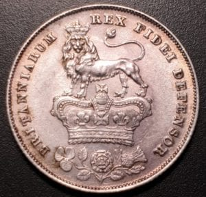 George IV, 1826 Bare Head Shilling