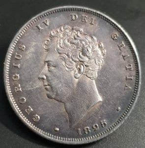 George IV, 1825 Bare Head Shilling