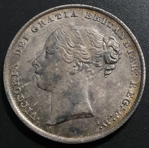 Queen Victoria Young Head Shilling, 1842, Type A3