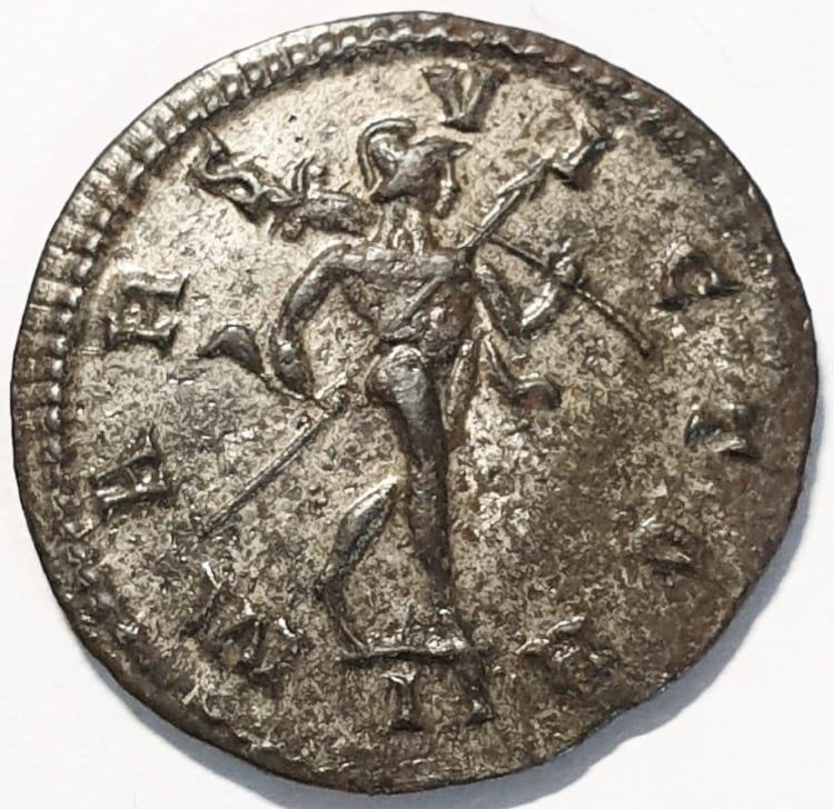 Probus Antoninianus AD 278/279. IMP C PROBVS P F AVG; Radiate and cuirassed bust right  Reverse, MARS VICTOR; Mars walking right, spear in right hand pointing forward, trophy over left shoulder