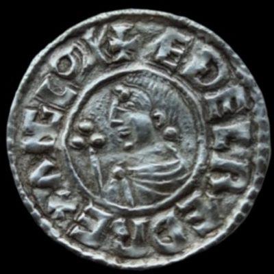 Aethelred II 978-1016, Silver Crux Penny