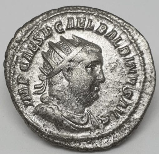 Balbinus Silver Antoninianus 238 A.D Stuck in Rome, radiate, draped and cuirassed bust of Balbinus to right