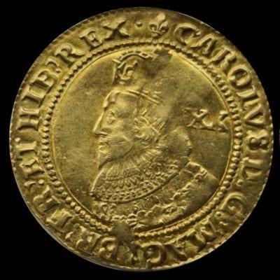 Charles I (1625-49), Unite, group A, initial mark lis (1625)