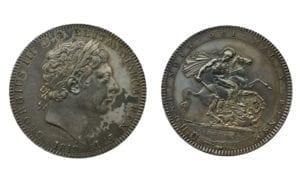 George III (1760-1820), silver Crown, 1819 LIX
