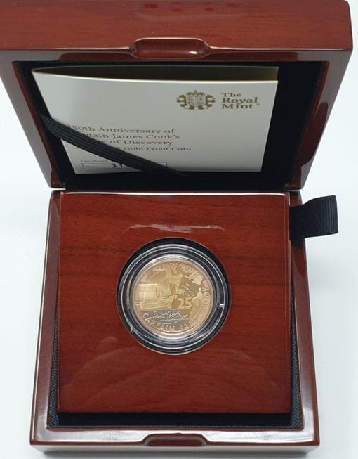 Captain Cook 2018 UK £2 Gold Proof Coin