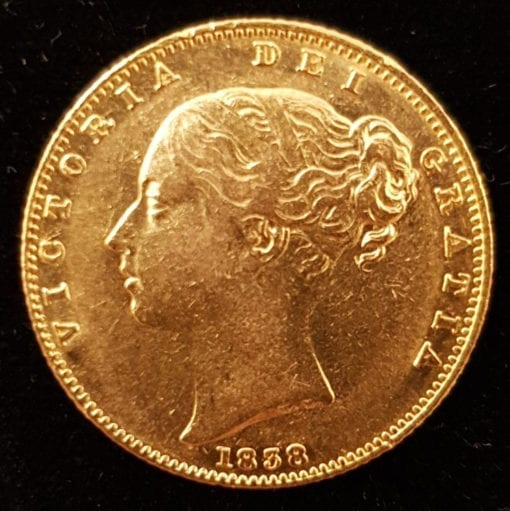 Victoria Young Head Sovereign 1838