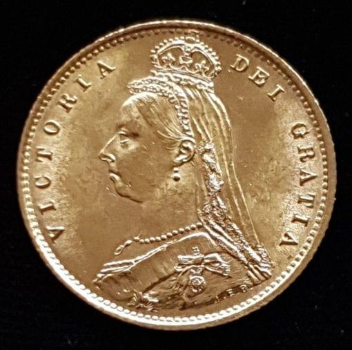 Victoria 1887 Half Sovereign Jubilee Type