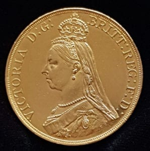 Victoria 1887 Five Pounds