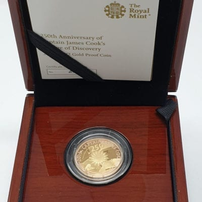 Captain Cook 2019 UK £2 Gold Proof Coin