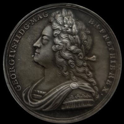 Struck to commemorate the coronation of George II (1727)