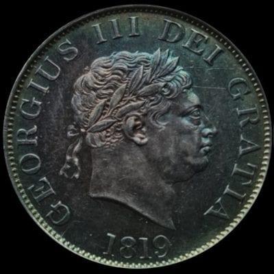 George III (1760-1820), silver Halfcrown, 1819