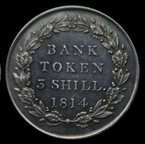 George III (1760 - 1820) Bank of England Issue Three Shillings