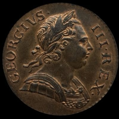 George III (1760-1820), copper Halfpenny, 1772
