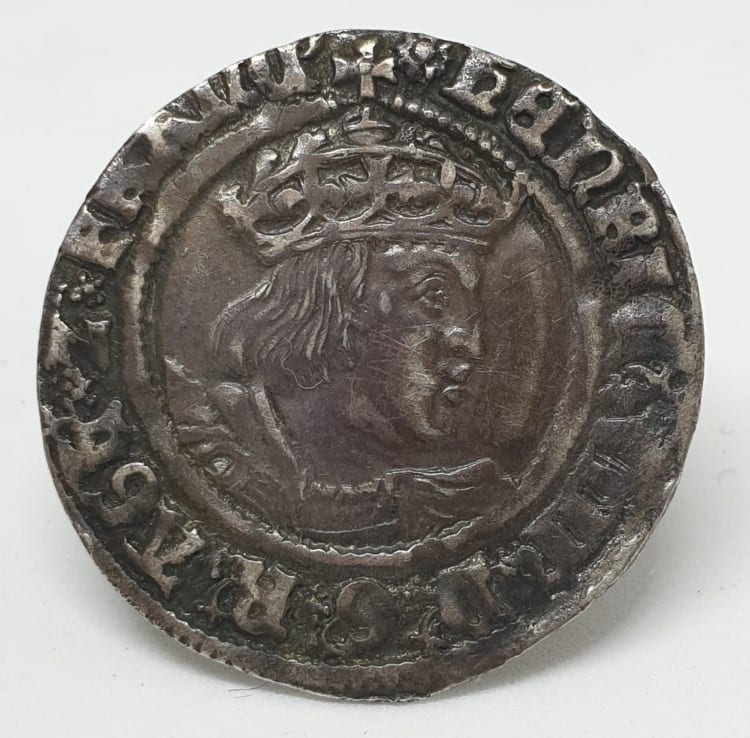 Henry VIII (1509-1547), Groat, Laker Bust D 2nd Coinage, London, m.m. Rose (1509-1526). Laker bust D
