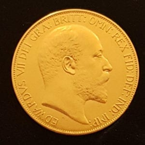 Edward VII 1902 Matt Proof £5