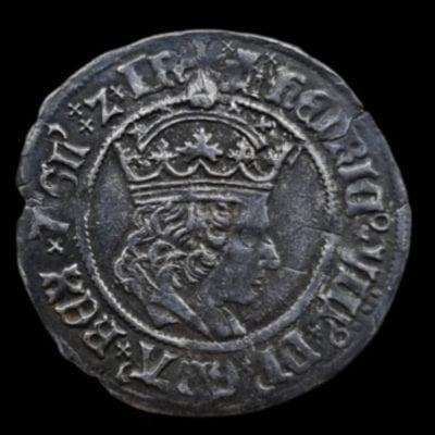 Henry VIII Groat 1st Coinage Castle Mint Mark