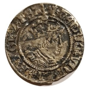 Henry VIII (1509-47), silver Half-Groat Canterbury Mint, second coinage (1526-44)