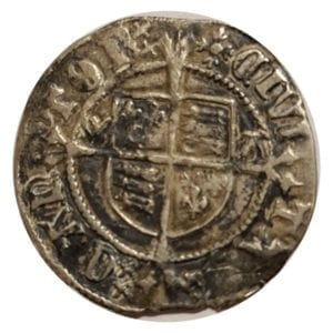 Henry VIII (1509-47), silver Half-Groat, Canterbury Mint, second coinage (1526-44)