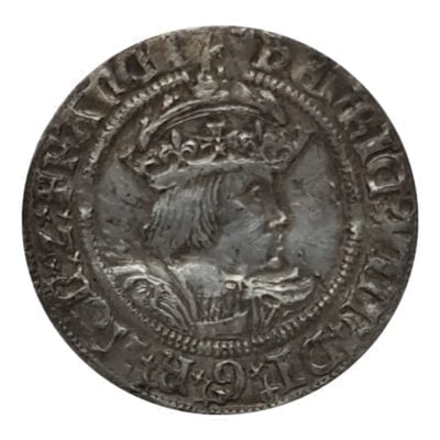 Henry VIII (1509-1547), Groat second coinage (1526-44), London Tower Mint, Second crowned bust (Laker Bust B) in profile right, initial mint mark Rose both sides.