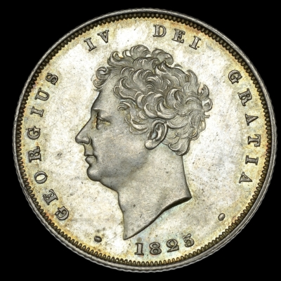1825 Third Reverse Shilling