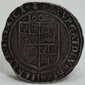 James Ist Sixpence, 1603