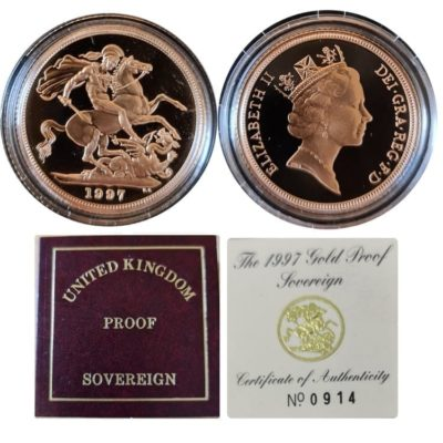 1997 Proof Full Gold Sovereign