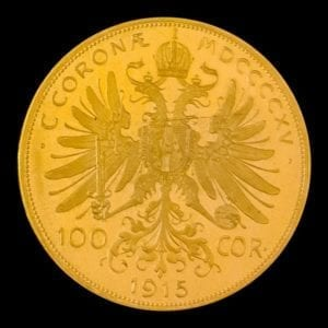 Austrian 100 Corona gold '1915'