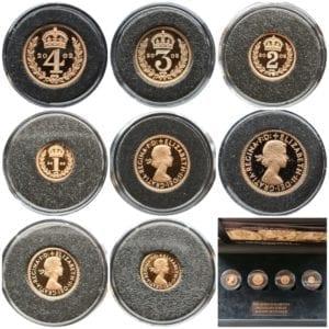 Elizabeth II 2002 Gold Maundy Set