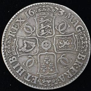 Charles II Crown 1673 over 2
