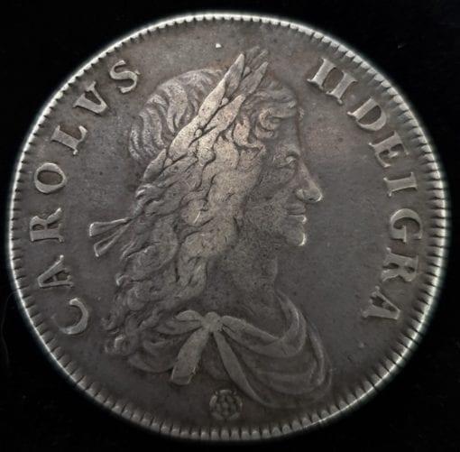 Charles II 1662 Crown Rose Below