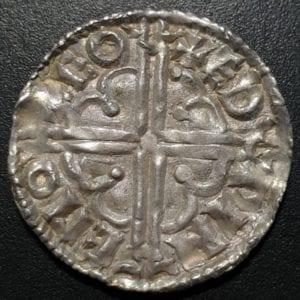 Cnut (1016-1035), silver Penny, quatrefoil type, Thetford Mint