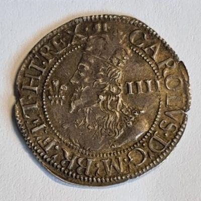 Charles I (1625-49), Groat, Aberystwyth mint
