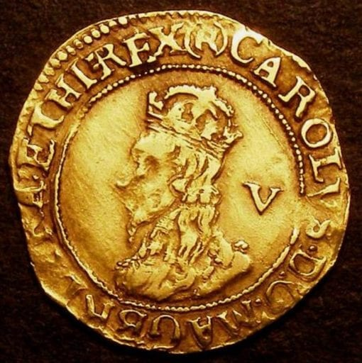 Charles I (1625-1649), Gold Crown, Group D, Fifth bust