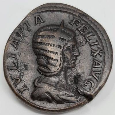 Julia Domna Augusta, AD 193-217. Æ Sestertius Struck