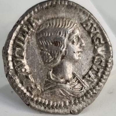 Plautilla Denarius, wife of Caracalla, AD 202- 205