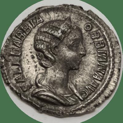 Orbiana Denarius, struck AD225 Rome mint.