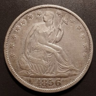 Seated Liberty Half Dollar 1856 New Orleans