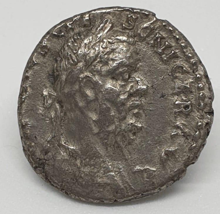Pescennius Niger AR Denarius. Antioch, AD 193-4. IMP CAES C PESC NIGER IVST AVG, laureate head right / SALVTI AVG, Salus (or Aequitas) standing left, holding scales and cornucopiae