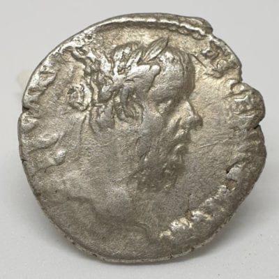 Pescennius Niger Denarius Pietati, 193-194 AD, struck at Antioch mint.