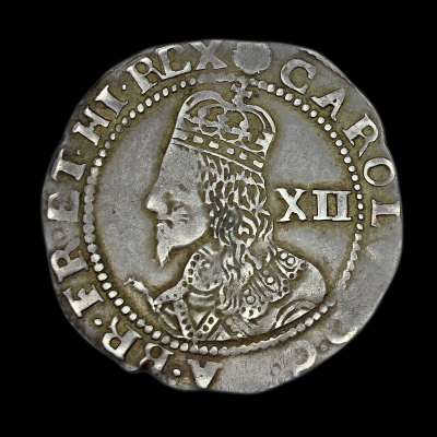 Charles Ist 1644 Exeter Shilling