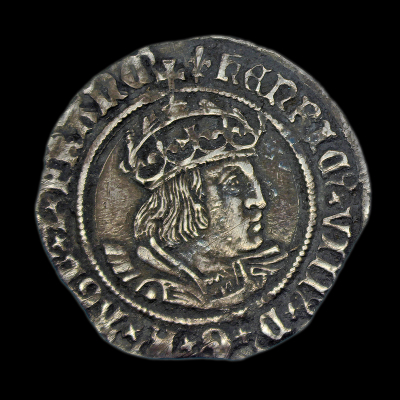 Henry VIII Groat, second coinage Laker Bust D